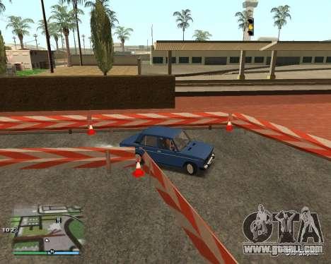 The circuit, as in driving school for GTA San Andreas sixth screenshot