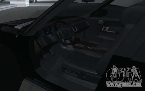 Land Rover Range Rover Vogue for GTA San Andreas inner view