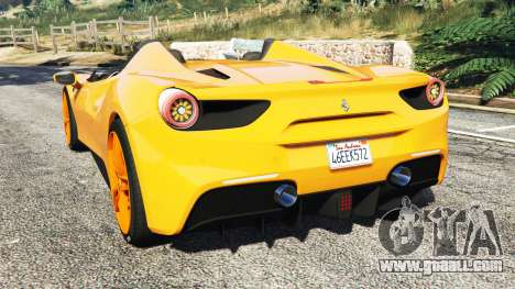 GTA 5 Ferrari 488 Speedster 2016 [replace] rear left side view