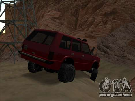 Huntley Offroad for GTA San Andreas back left view