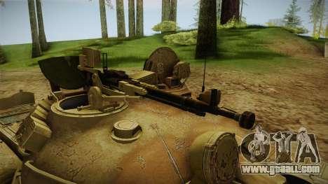 T-62 Desert Camo v3 for GTA San Andreas back view