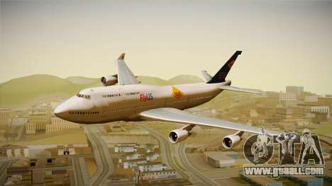 Boeing 747-400 FlyUS with NMB Logo for GTA San Andreas