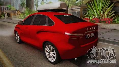 Lada Vesta Sedan for GTA San Andreas left view