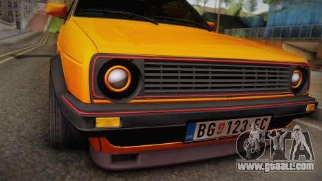 Volkswagen Golf Mk2 GTI .ILchE STYLE. for GTA San Andreas right view