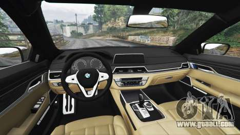 GTA 5 BMW 750i xDrive M Sport (G11) [add-on] right side view
