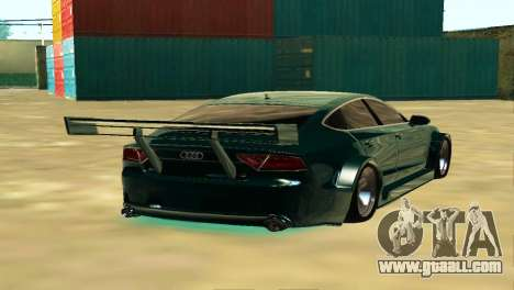 AUDI A7 SPORTS for GTA San Andreas back left view