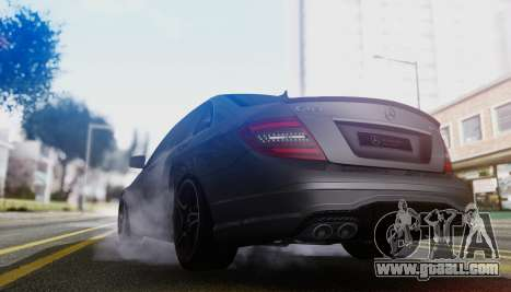 Mercedes-Benz C63 AMG w204 for GTA San Andreas back view