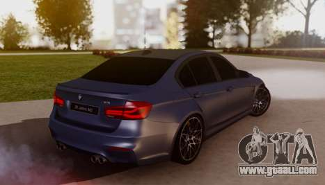 BMW M3 F30 30 Jahre for GTA San Andreas left view