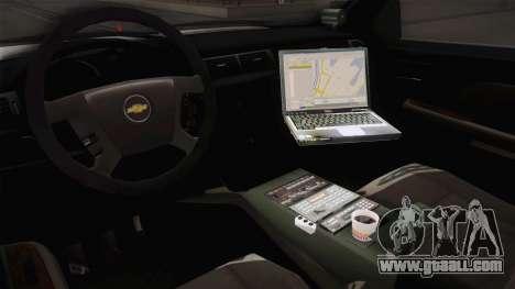 Chevrolet Silverado 2009 SA DOT for GTA San Andreas inner view