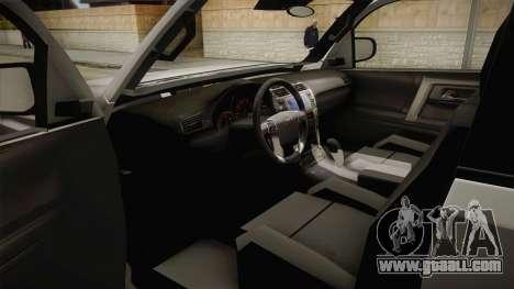 Toyota 4runner 2010 for GTA San Andreas inner view