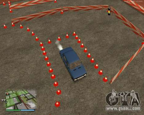 The circuit, as in driving school for GTA San Andreas seventh screenshot