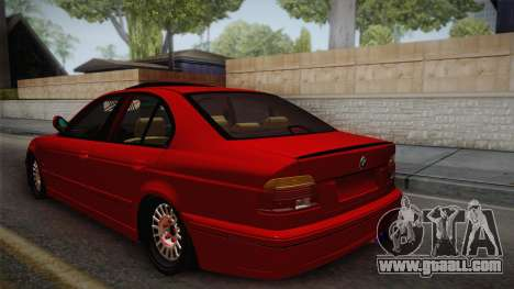 BMW 530d E39 Red Black for GTA San Andreas left view