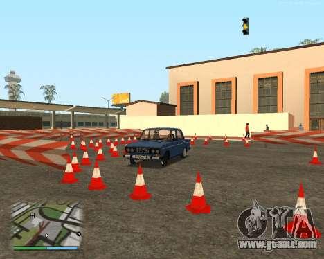 The circuit, as in driving school for GTA San Andreas ninth screenshot
