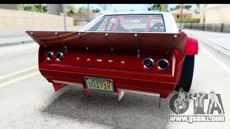 GTA 5 Declasse Tampa Drift IVF for GTA San Andreas bottom view