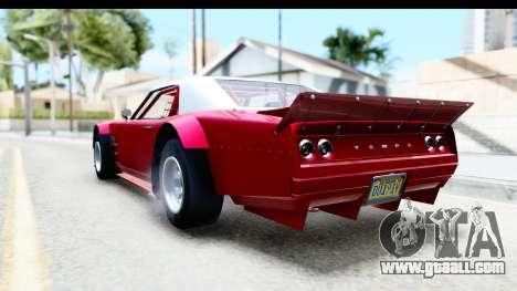 GTA 5 Declasse Tampa Drift IVF for GTA San Andreas back left view
