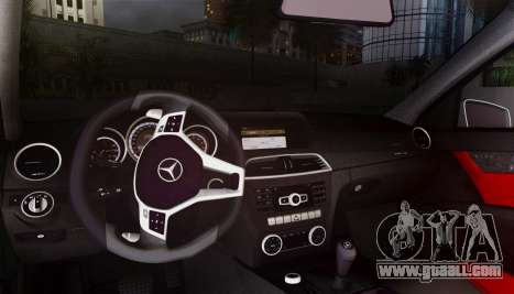 Mercedes-Benz C63 AMG w204 for GTA San Andreas inner view