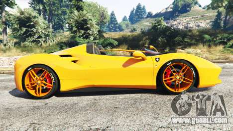 GTA 5 Ferrari 488 Speedster 2016 [replace] left side view