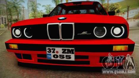 BMW M3 E30 Sedan for GTA San Andreas back left view