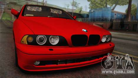 BMW 530d E39 Red Black for GTA San Andreas right view