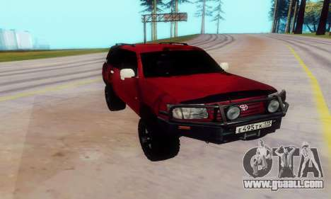 Toyota Land Cruiser 105 for GTA San Andreas left view