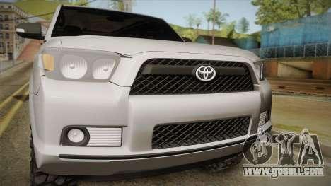 Toyota 4runner 2010 for GTA San Andreas back left view