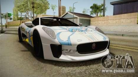 Jaguar C-X75 Ika Musume Itasha for GTA San Andreas back left view
