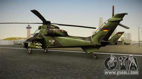 Eurocopter Tiger Extra Skin for GTA San Andreas left view