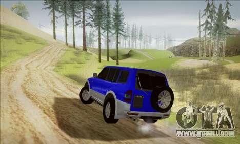 Mitsubishi Pajero 3 Beta for GTA San Andreas back left view