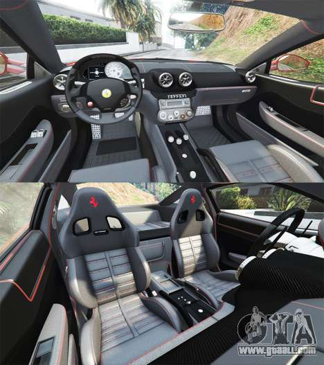 GTA 5 Ferrari 599 GTO [add-on] steering wheel