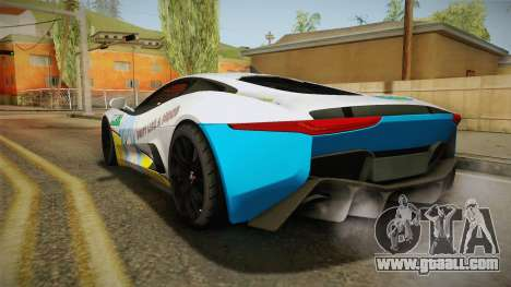 Jaguar C-X75 Ika Musume Itasha for GTA San Andreas right view