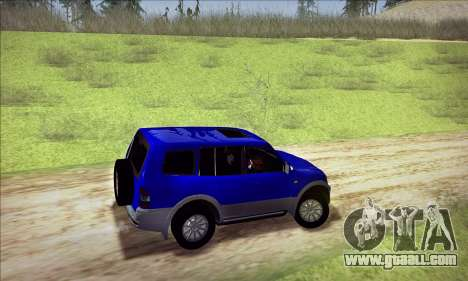 Mitsubishi Pajero 3 Beta for GTA San Andreas back view