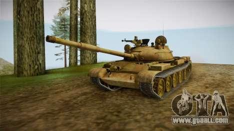 T-62 Desert Camo v3 for GTA San Andreas right view