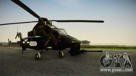 Eurocopter Tiger Extra Skin for GTA San Andreas right view