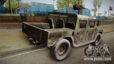 HMMWV Humvee Woodland for GTA San Andreas left view