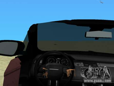 Range Rover Evoque for GTA Vice City back left view