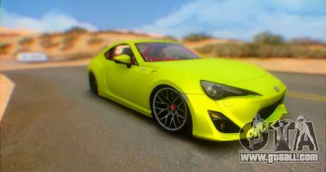 Toyota GT86 2015 Stance for GTA San Andreas back left view