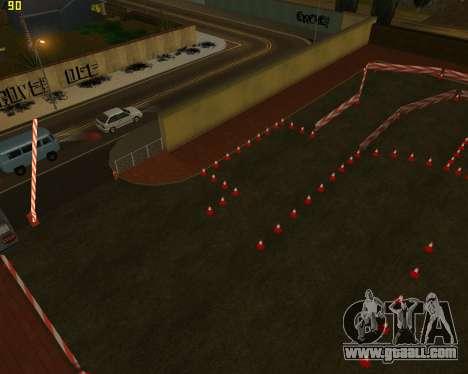 The circuit, as in driving school for GTA San Andreas third screenshot