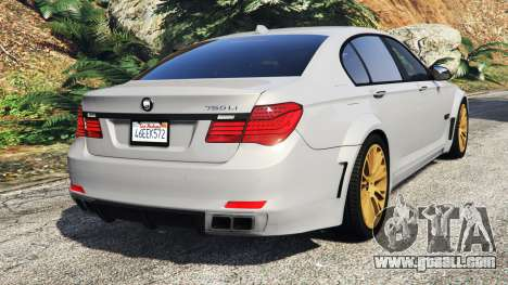 GTA 5 BMW 760Li (F02) Lumma CLR 750 [add-on] rear left side view