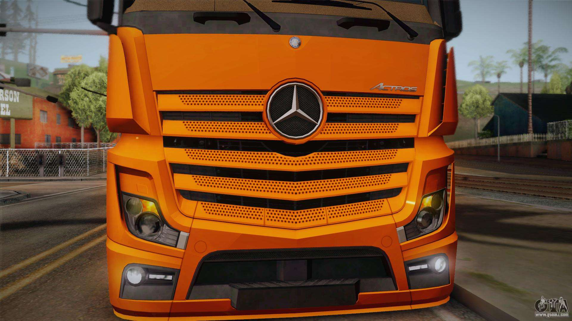 mercedes benz actros mp4 4x2 v2 0 steamspace for gta san. Black Bedroom Furniture Sets. Home Design Ideas