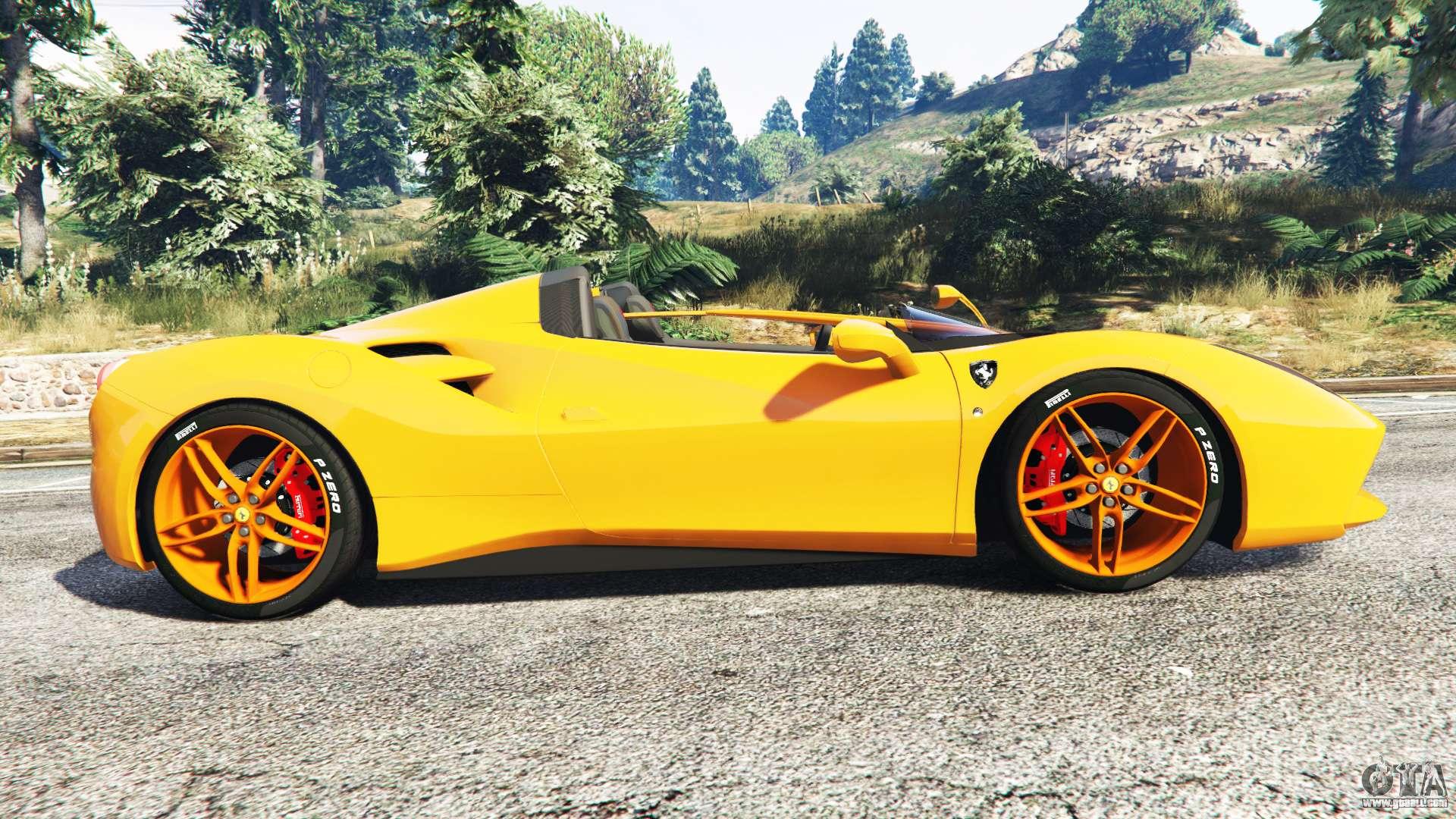 Ferrari 488 Speedster 2016 replace for GTA 5