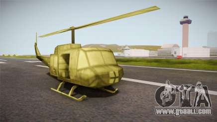 Bell UH-1H from Army Men: Serges Heroes 2 DC for GTA San Andreas
