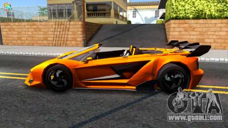 GTA V Pegassi Lampo Roadster for GTA San Andreas left view