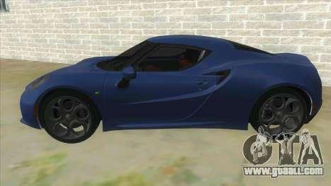 Alfa Romeo 4C for GTA San Andreas left view
