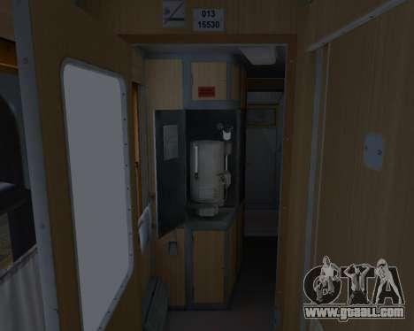 Compartment car Ukrainian Railways for GTA San Andreas wheels