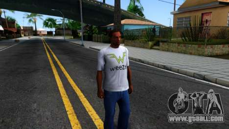 Weezer T-Shirt for GTA San Andreas second screenshot