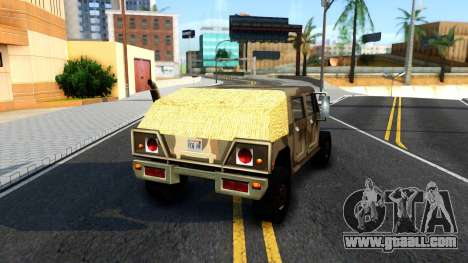 New Patriot GTA V for GTA San Andreas back left view