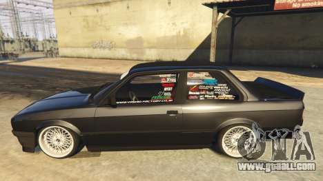 GTA 5 BMW E30 Drift left side view