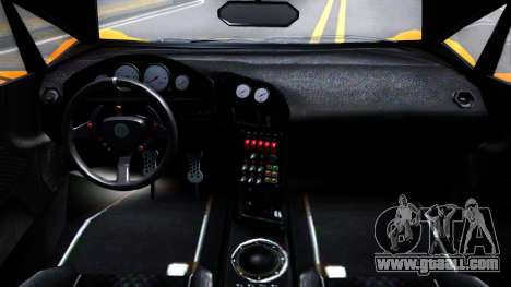 GTA V Pegassi Lampo Roadster for GTA San Andreas inner view