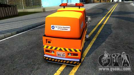 Brute Sweeper SA DOT 1992 for GTA San Andreas right view