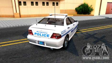 1998 Dinka Chavos Montgomery Police Department for GTA San Andreas back left view